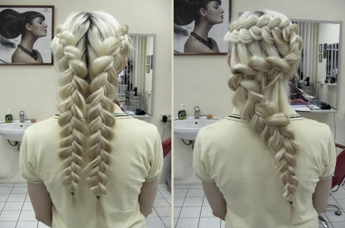 очень красиво.  Прически на длинные волосы и косы прекрасно сочетают в особенно сложные механически, идейно...