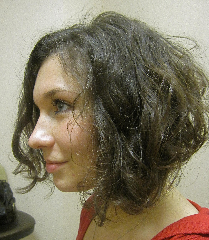 Каре на кудрявые волосы