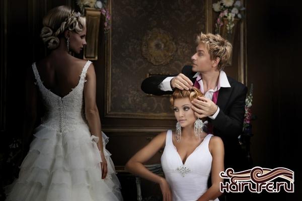 свадебные прически 2007г