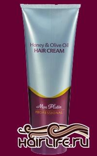 Регенерирующий и заживляющий крем, обогащенный медом и оливковым маслом 250 мл  Новейший увлажняющий крем для защиты и питания волос. Способствует регенерации секущихся концов волос, а также помогает укладке кудрявых волос. Уникальный состав крема возвращает волосам жизненно необходимые элементы, утраченные вследствие химических обработок волос или же вследствие постоянного вредного воздействия окружающей среды. Содержит витамины В-5 и Е, обогащен оливковым маслом, маточным молочком, прополисом и чистым медом. Уход – регенерирует жизненно необходимые вещества, утраченные вследствие химической обработки волос или же вследствие вредного воздействия окружающей среды. Вид – возвращает волосам естественный и свежий вид. Ощущение – придает волосам блеск и аромат. Защита – покрывает волосы уникальной защитной пленкой, наделяя их экзотическим ароматом. Применение – подходит для ежедневного использования на сухие волосы.