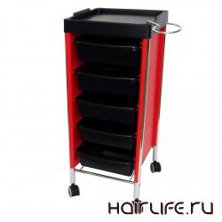 Тележка парикмахерская Niki Mix (black-red) от Prosalons