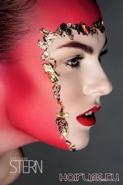 Art make-up: живопись на лицах