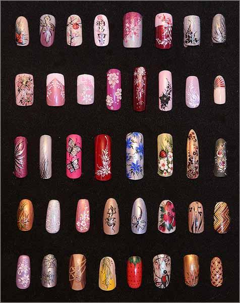 История маникюра, накладные ногти