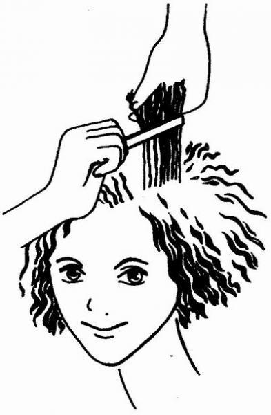 Техника выполнения окрашивания волос- тени и свет.